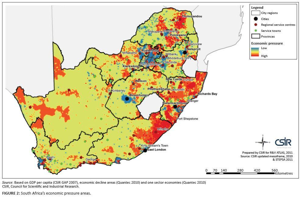 남아공 경제압박 현황 (2007) 파란색 슬럼가